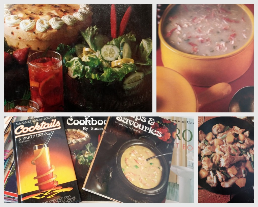 1970s & 80s cookbooks with brown food, check