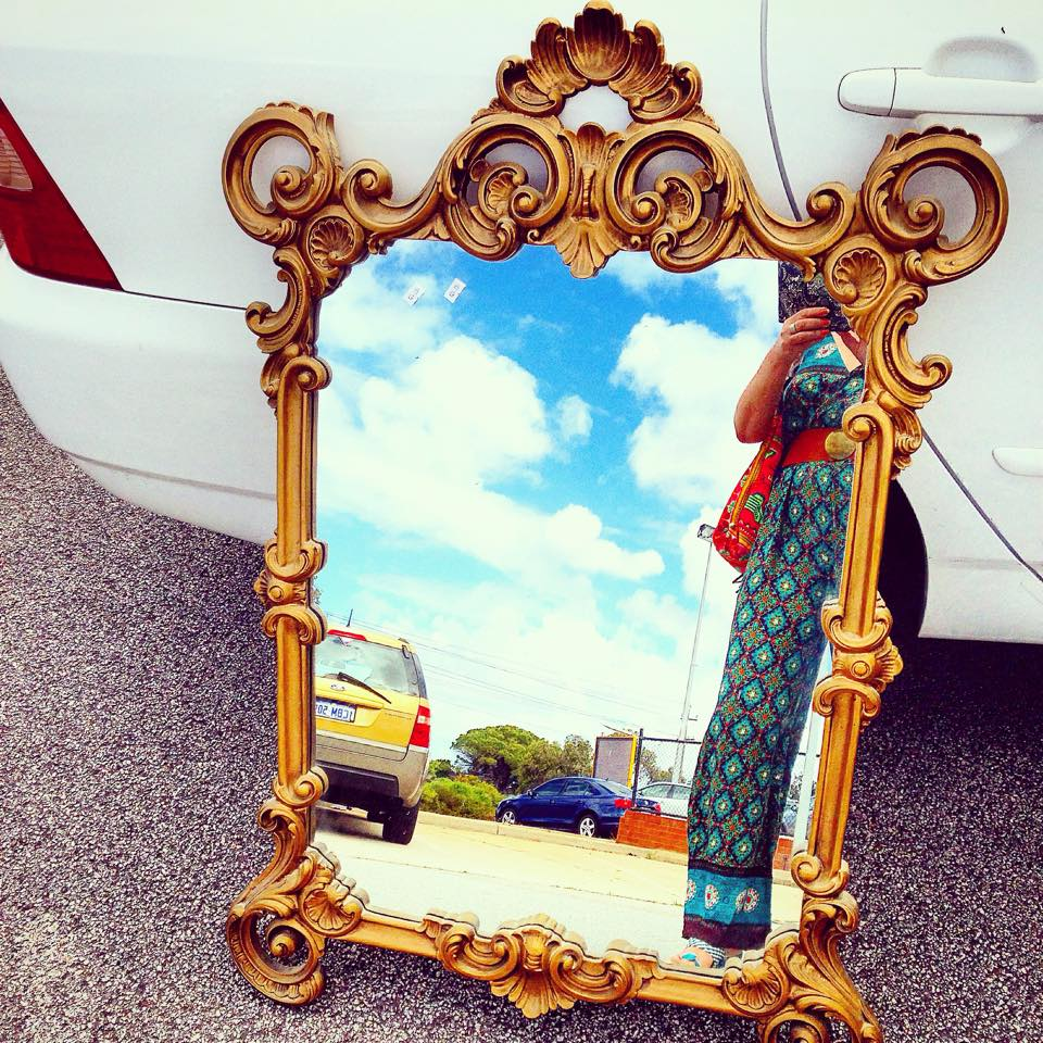 Sheree found A vintage mirror for $24.99