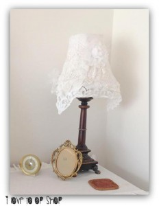 Revamped doily lamp from the op shop