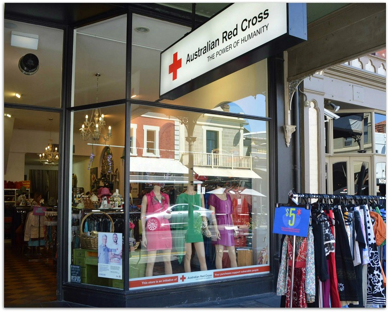 Red Cross Rundle Street in Adelaide