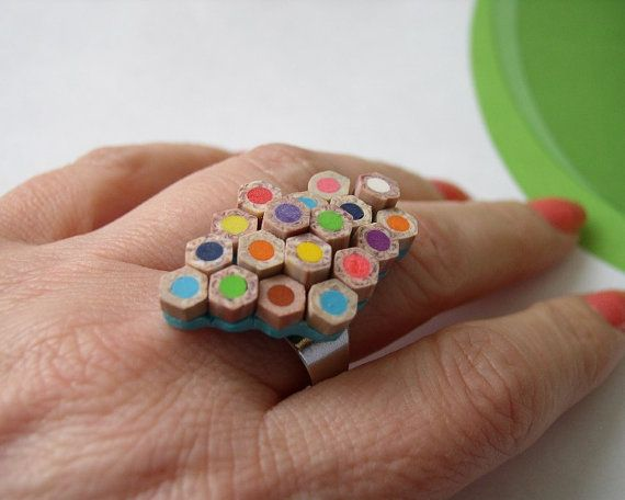 Angela Design's upcycled pencil ring