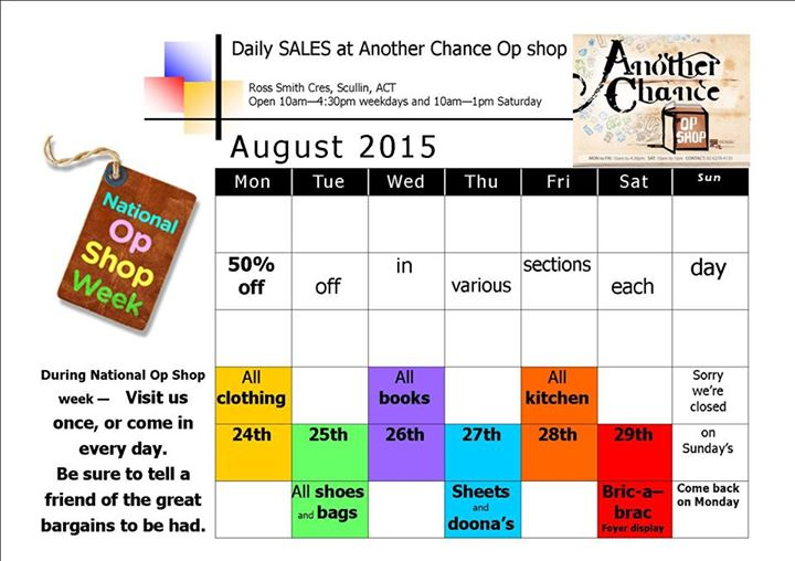 Another Chance Op Shop taking part in national Op Shop Week