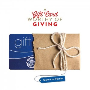 Grab your Vinnies Gift card on Ebay